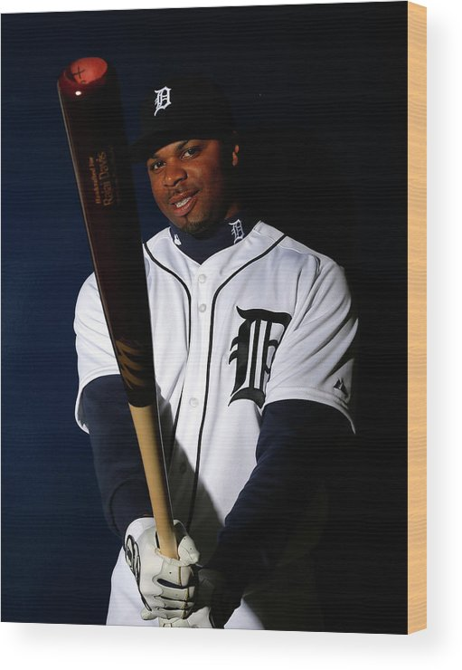 Media Day Wood Print featuring the photograph Rajai Davis by Kevin C. Cox