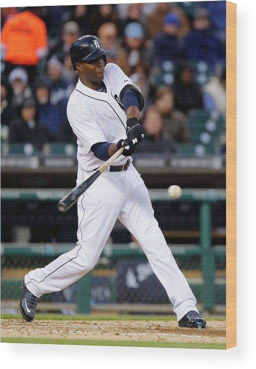 American League Baseball Wood Print featuring the photograph Torii Hunter by Duane Burleson