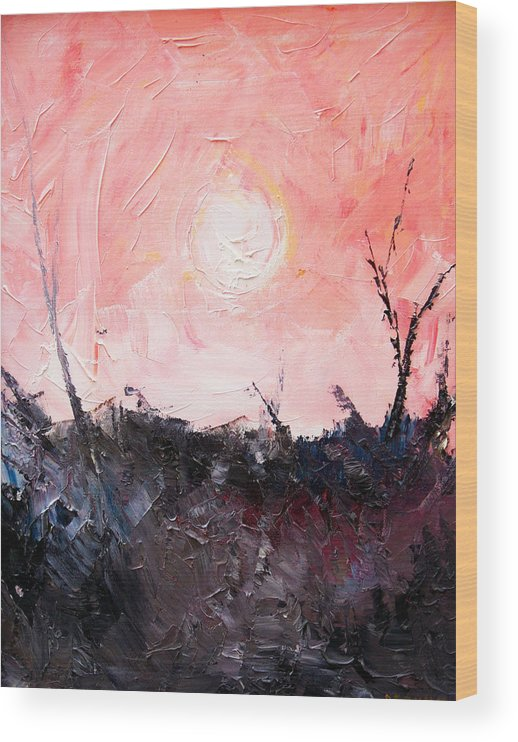 Duck Wood Print featuring the painting White Sun by Sergey Bezhinets