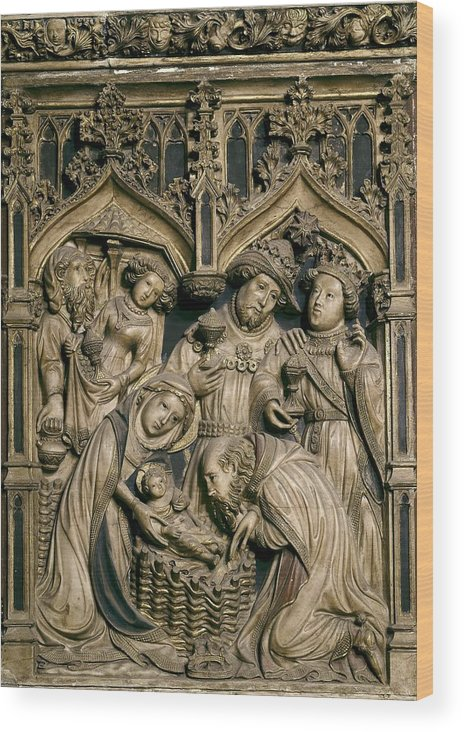 Europe Wood Print featuring the photograph Oller, Pere 15th Century. Altarpiece by Everett