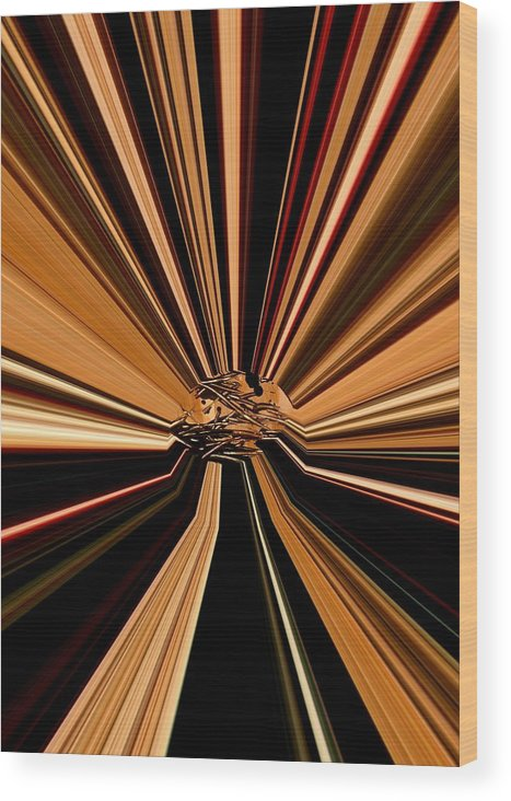 Abstract Wood Print featuring the digital art Brown by Alexander Alvarez