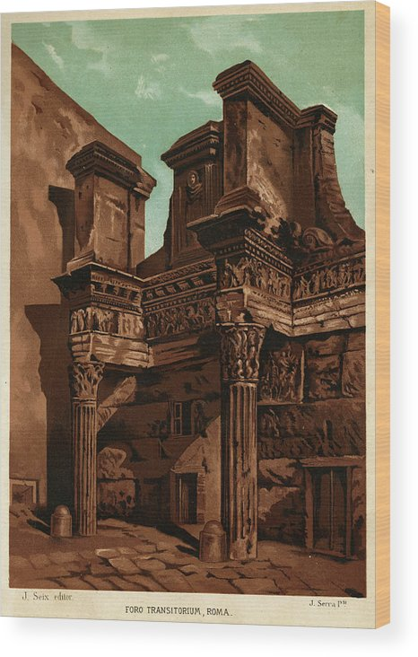 Rome Wood Print featuring the drawing Foro Transitorum   Date 1891 by Mary Evans Picture Library