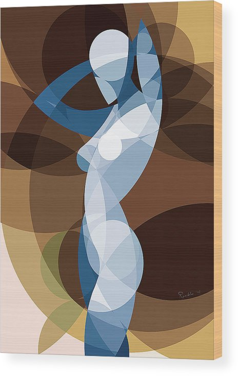 Art Wood Print featuring the painting Music Of The Spheres #9 by Peyablo