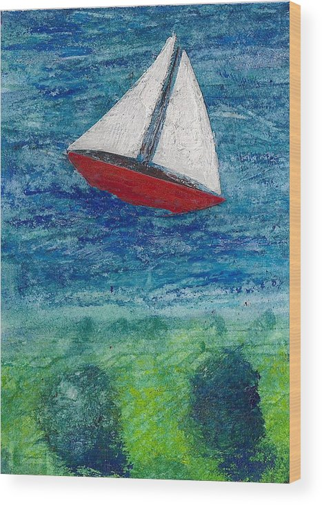 Sailboat Wood Print featuring the painting Sail by James Raynor