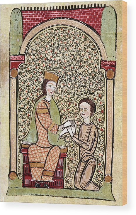 13th Century Wood Print featuring the painting Spain Courtly Love by Granger