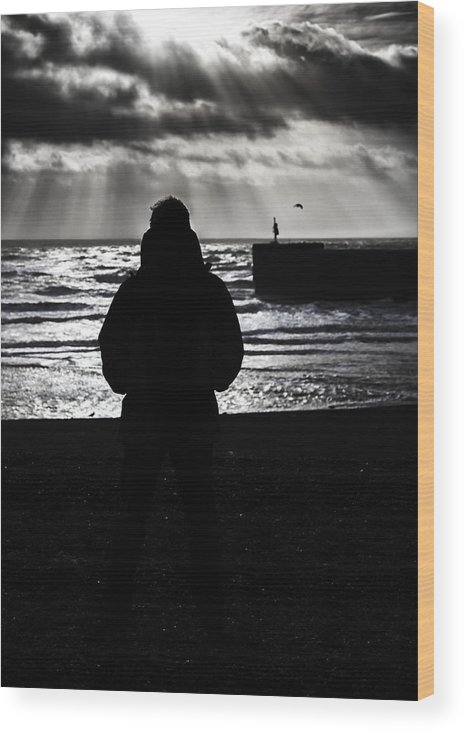 Standing Wood Print featuring the photograph The Old Man And The Sea by Nigel Jones