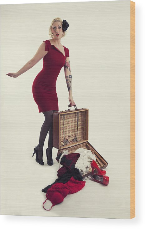 Girl Wood Print featuring the photograph Travel Girl by Kent Mathiesen