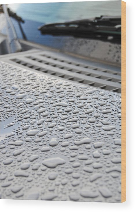 Rain Wood Print featuring the photograph Wipers by Skip Willits