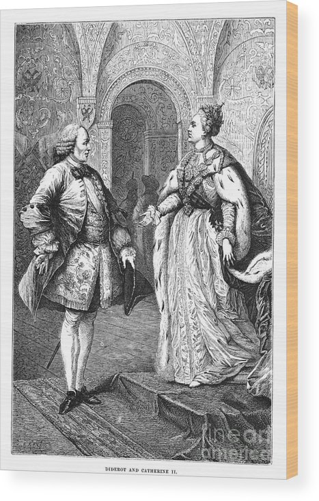 1773 Wood Print featuring the photograph Denis Diderot (1713-1784) by Granger