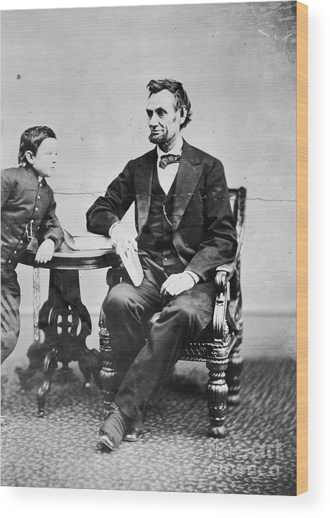 1865 Wood Print featuring the photograph Abraham Lincoln by Granger