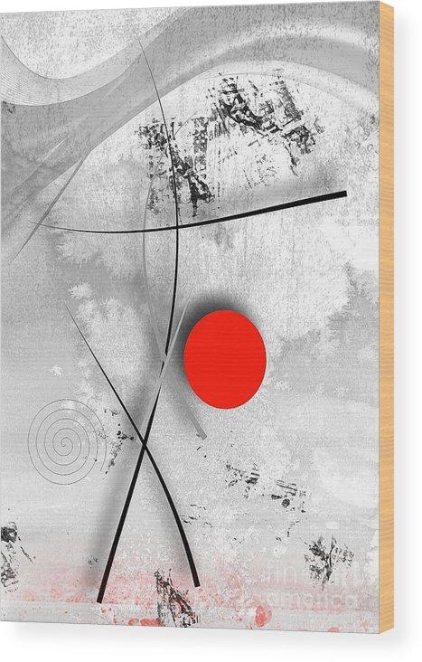 Graphics Wood Print featuring the digital art Abs 0436 by Marek Lutek