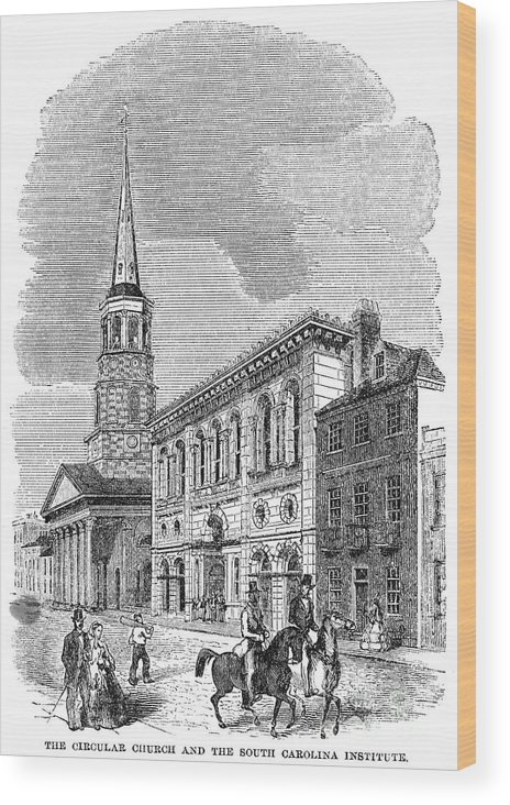 1857 Wood Print featuring the photograph Charleston, 1857 by Granger