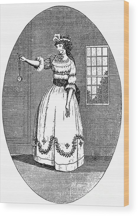 1790s Wood Print featuring the photograph Early American Actress by Granger