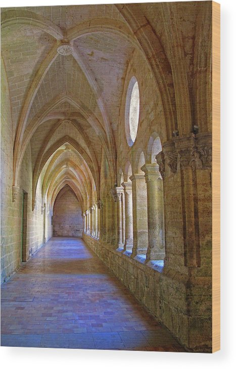 Monastery Wood Print featuring the photograph Inside A Monastery by Dave Mills