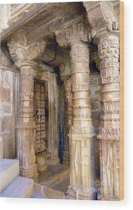 Jaisalmer Wood Print featuring the photograph Jaisalmer Temple by Sophie Vigneault