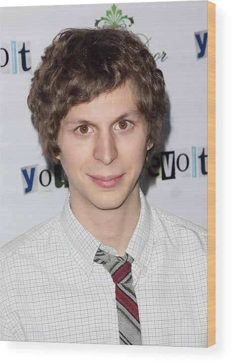 Michael Cera Wood Print featuring the photograph Michael Cera At Arrivals For Youth In by Everett