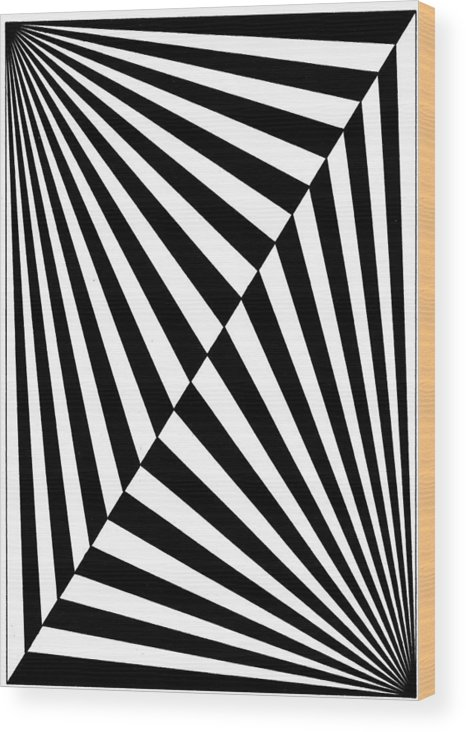 Op Art Wood Print featuring the drawing Untitled 18 by Joanna Potratz