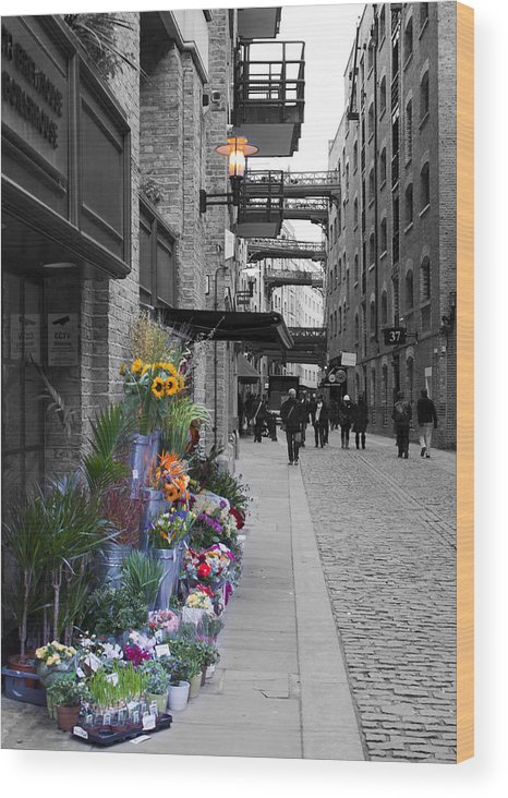 Butlers Wharf Wood Print featuring the photograph Butlers Wharf London by David French