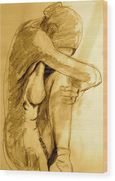 Sketcht Wood Print featuring the drawing Studio Sketch by Dan Earle