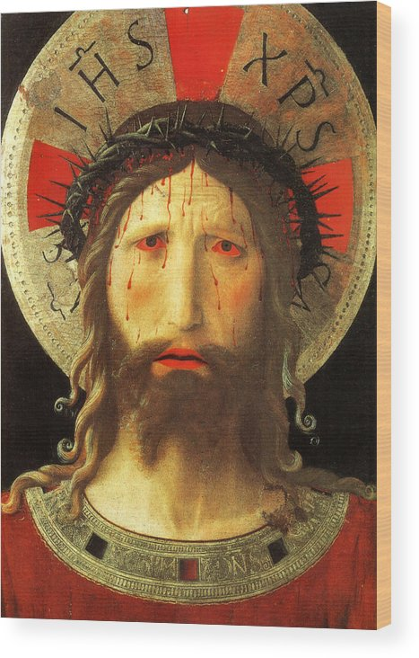 Painting Wood Print featuring the painting Christ Crowned With Thorns by Mountain Dreams