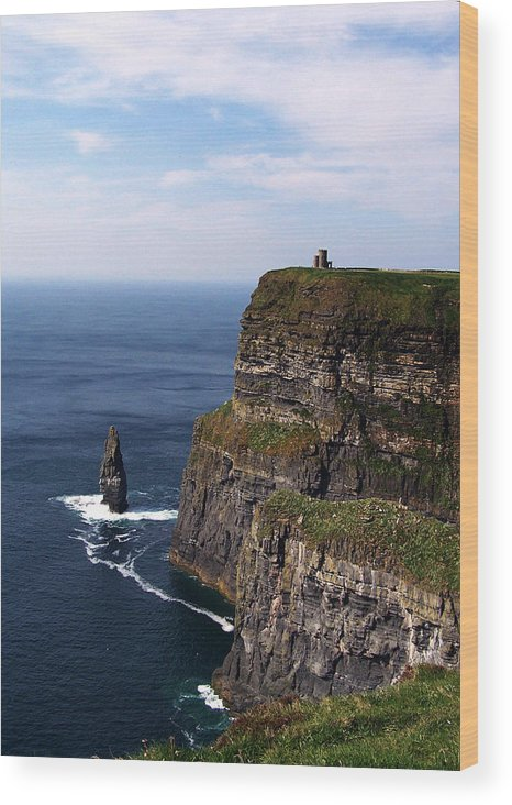 Irish Wood Print featuring the photograph Cliffs Of Moher County Clare Ireland by Teresa Mucha