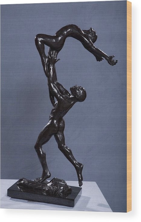 Male And Female Wood Print featuring the sculpture Flight by Dan Earle