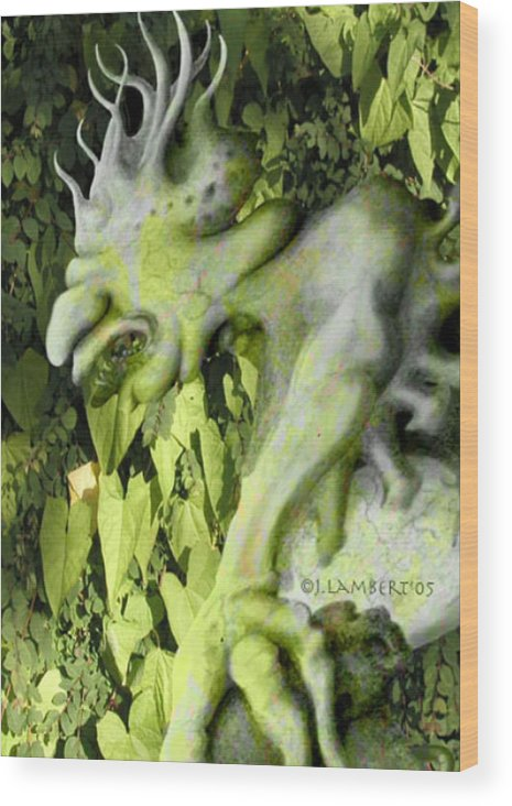 Green Wood Print featuring the digital art Floater In The Forrest by J P Lambert