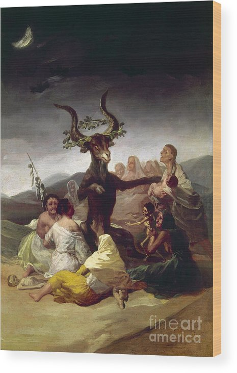 1795 Wood Print featuring the photograph Goya: Witches Sabbath by Granger