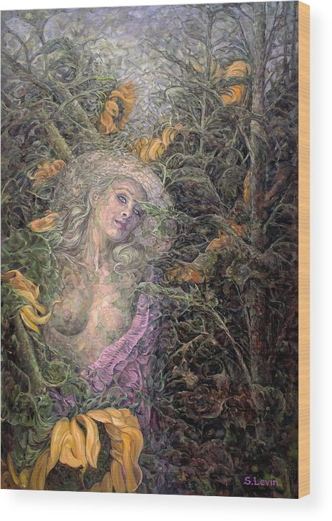 Women Wood Print featuring the painting Lyllith by Sergey Levin