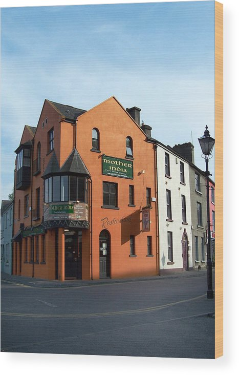Ireland Wood Print featuring the photograph Mother India Restaurant Athlone Ireland by Teresa Mucha