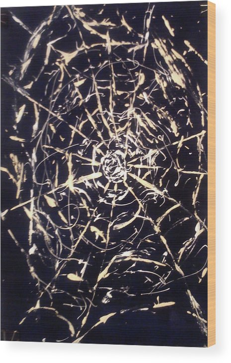 Web Wood Print featuring the painting Networks by Eleni Papakonstanti
