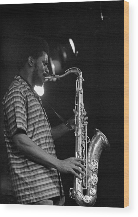 Pharoah Sanders Wood Print featuring the photograph Pharoah Sanders 2 by Lee Santa