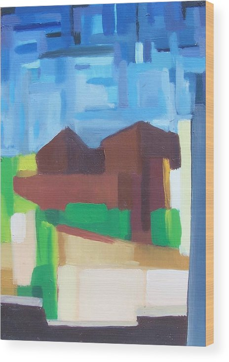 Painting Wood Print featuring the painting Prospect Ave View by Ron Erickson