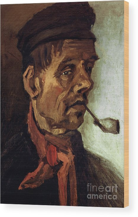 1884 Wood Print featuring the photograph Van Gogh: Peasant, 1884 by Granger