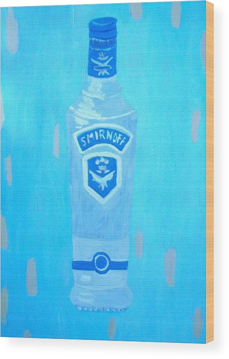 Pop Art Wood Print featuring the painting Vodka by Patrice Tullai
