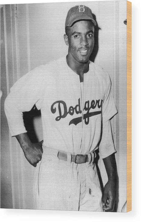 People Wood Print featuring the photograph Jackie Robinson by Hulton Archive