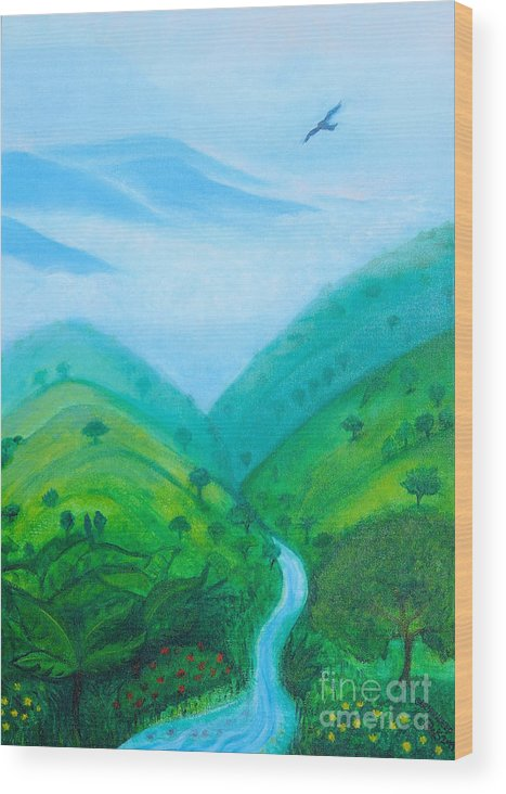 Medellín Wood Print featuring the painting Medellin Natural by Gabrielle Wilson-Sealy
