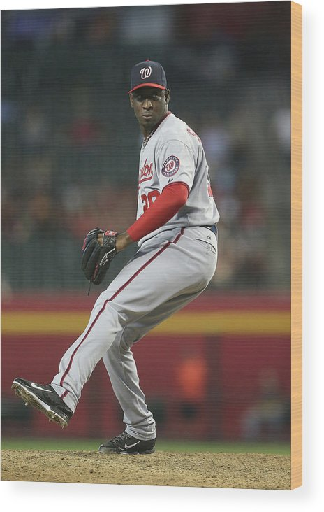 Relief Pitcher Wood Print featuring the photograph Rafael Soriano by Christian Petersen