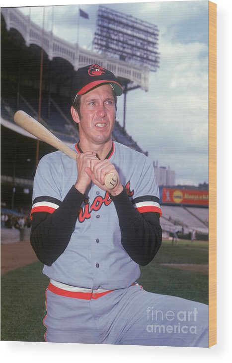 American League Baseball Wood Print featuring the photograph Brooks Robinson by Louis Requena