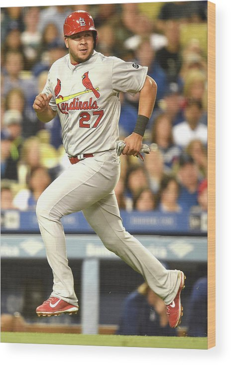 St. Louis Cardinals Wood Print featuring the photograph Jhonny Peralta And Jason Heyward by Harry How