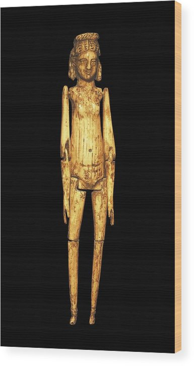 Vertical Wood Print featuring the photograph Ivory Doll 1st C.. Roman Art. Early by Everett