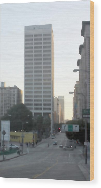 Skyscrapers Wood Print featuring the photograph Downtown Los Angeles 0680 by Edward Ruth