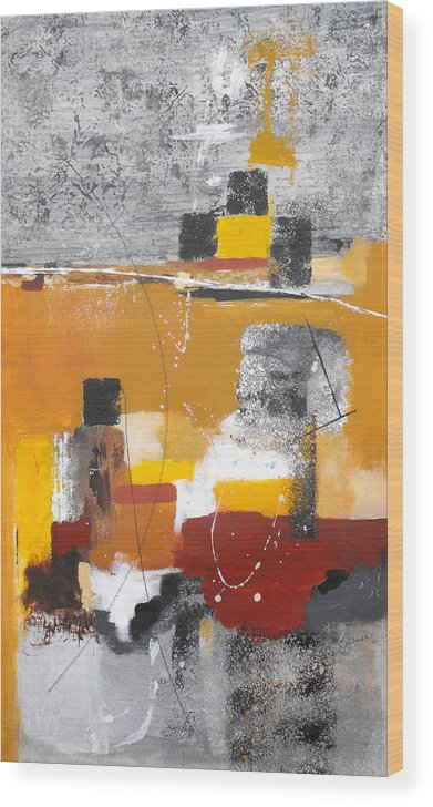 Abstract Wood Print featuring the painting Special Circumstances II by Ruth Palmer
