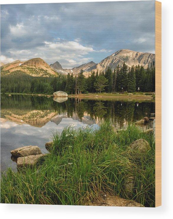 Brainard Lake Wood Print featuring the photograph Brainard Lake Reflections by Ronda Kimbrow