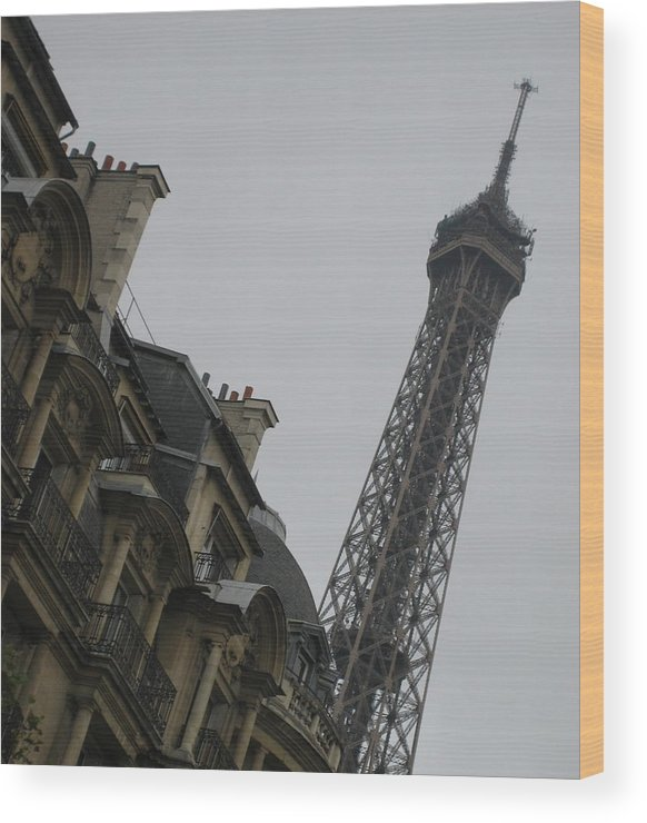 Eiffel Tower Wood Print featuring the photograph Eye Full by Victoria Heryet