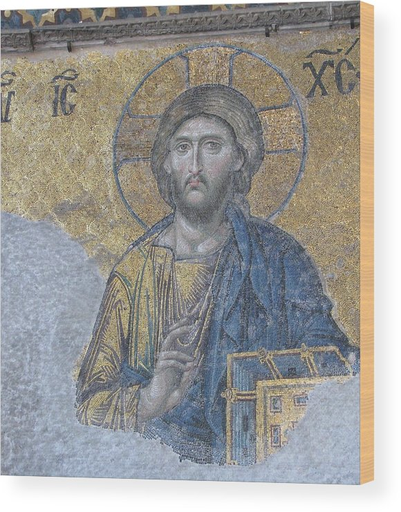 Jesus Christ Wood Print featuring the photograph He Holds The Book Of Life by Jay Givens