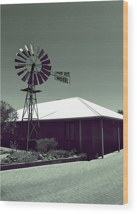 Motel Wood Print featuring the photograph Motel by Girish J
