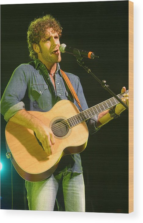 Don Olea Wood Print featuring the photograph Billy Currington by Don Olea