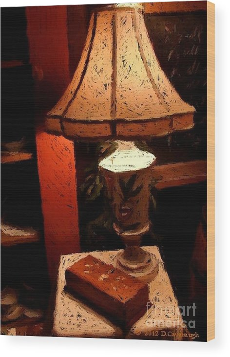 Antique Wood Print featuring the photograph Antique Lamp by Donna Cavanaugh