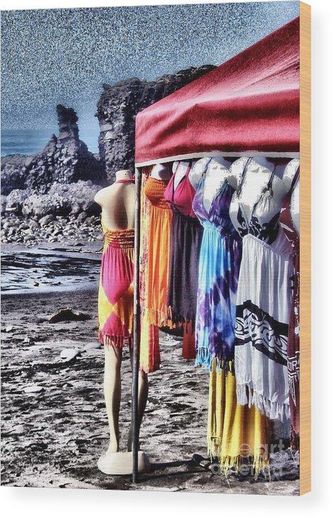 Beach Wood Print featuring the photograph Beach Fashion by Stav Stavit Zagron